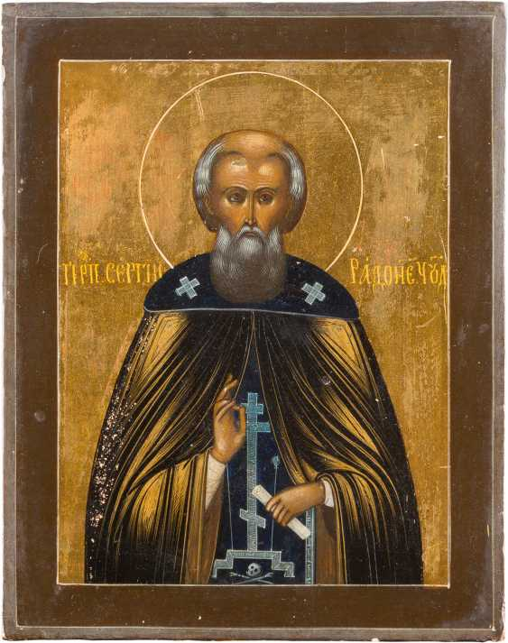 A SMALL ICON WITH THE HOLY SERGEI OF RADONEZH - photo 1