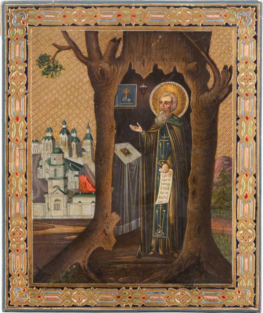 ICON WITH SAINT TIKHON OF KALUGA - photo 1