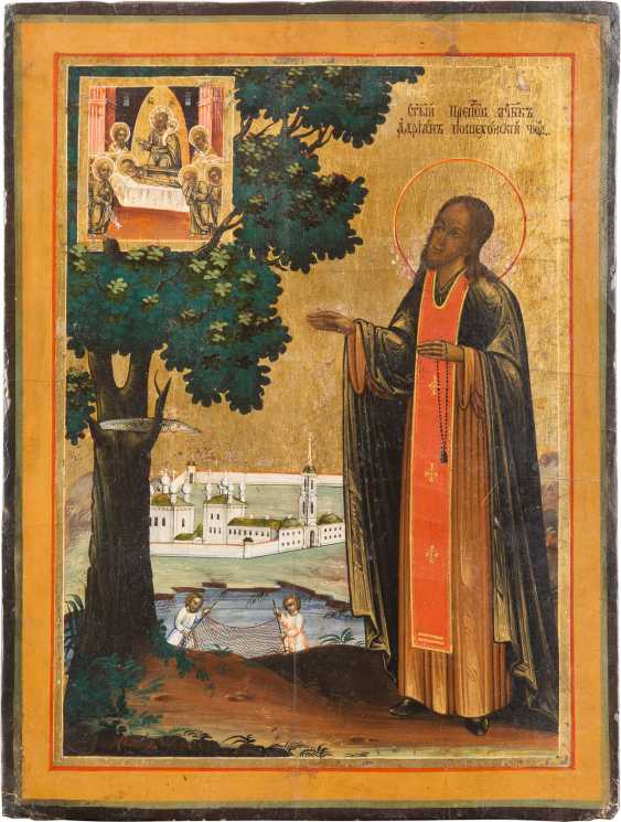 ICON WITH THE HOLY ADRIAN POZHECHONSKIJ - photo 1