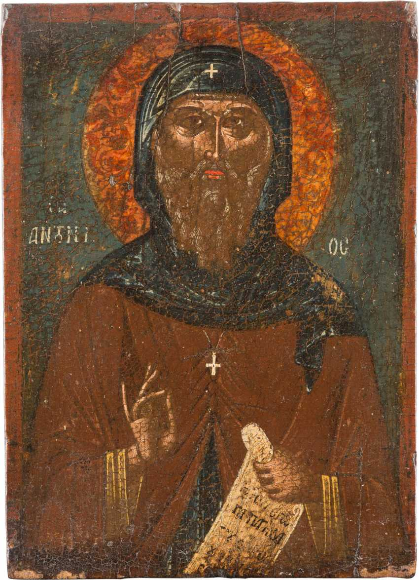 A SMALL ICON WITH SAINT ANTHONY - photo 1