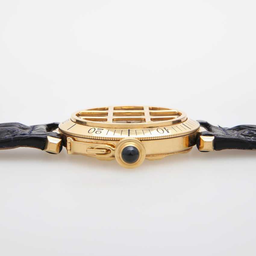 """CARTIER Armbanduhr """"Pasha"""" mit Gitter, Gelbgold 18K. Ref.: 820904. - photo 4"""