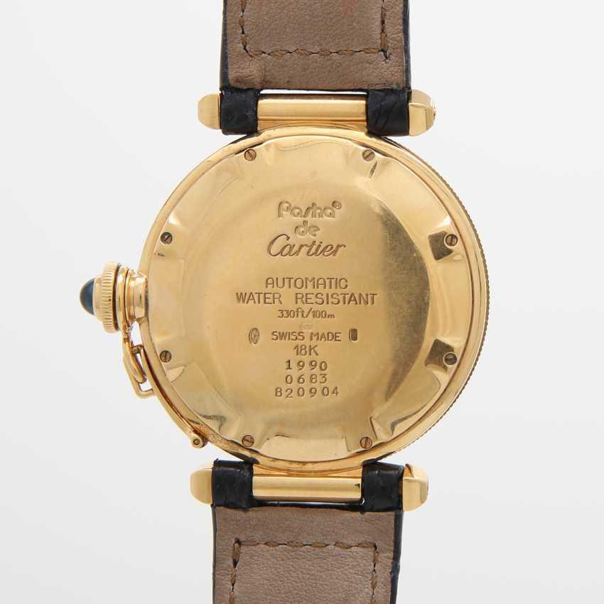 """CARTIER Armbanduhr """"Pasha"""" mit Gitter, Gelbgold 18K. Ref.: 820904. - photo 5"""