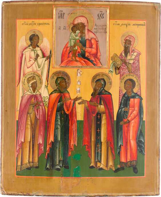 A BIG ICON WITH THE WORSHIP OF THE MOTHER OF GOD 'FINDING THE LOST' - photo 1