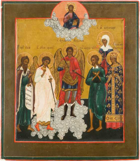 PATRONAL ICON OF THE ARCHANGEL MICHAEL AND SELECTED FAMILY SAINTS - photo 1