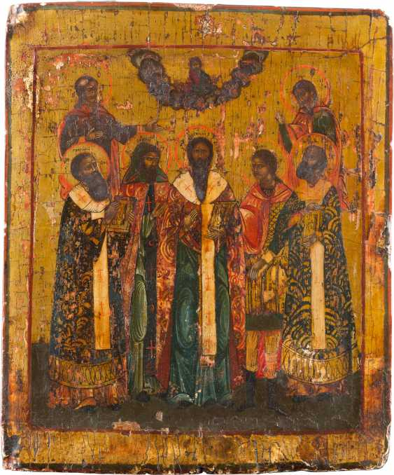 PATRONAL ICON OF THE SEVEN SAINTS - photo 1