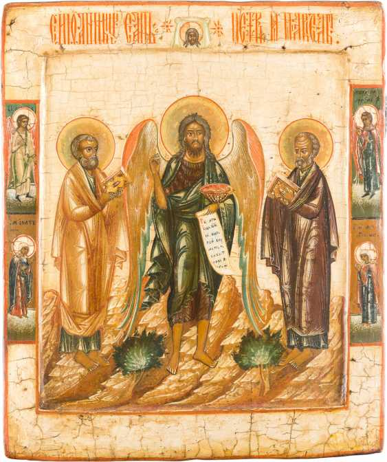 ICON WITH SAINT JOHN THE BAPTIST, THE APOSTLES PETER AND PAUL, AS WELL AS SELECTED HOLY - photo 1