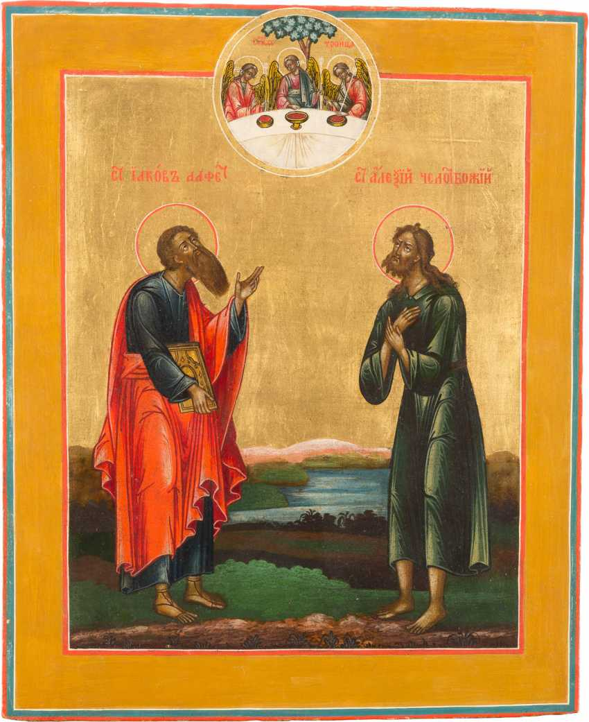 ICON OF THE APOSTLE JAMES, AND TO THE HOLY ALEXIUS, MAN OF GOD - photo 1
