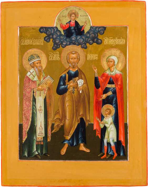 LARGE-FORMAT ICON WITH THREE SAINTS - photo 1