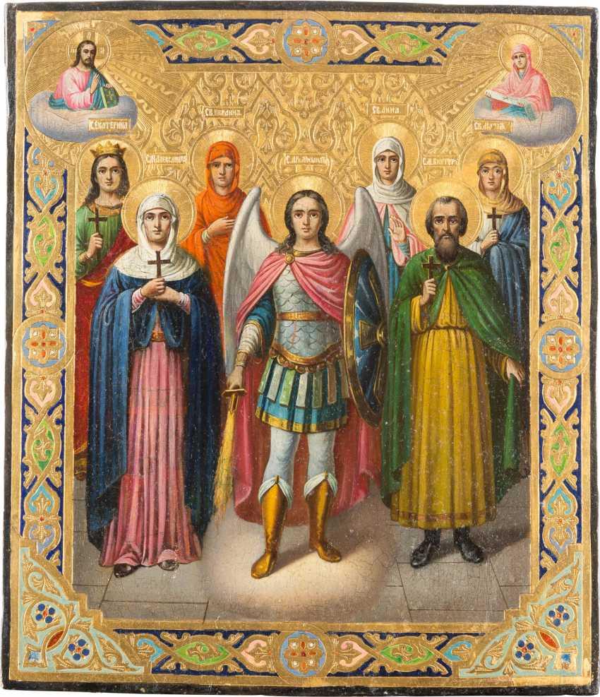 PATRONAL ICON OF THE SEVEN SAINTS - photo 1