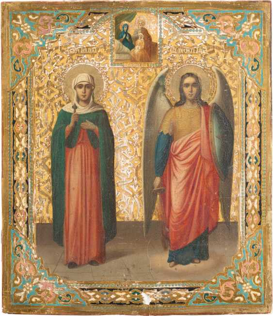 ICON WITH THE HOLY AKULINA, AND THE ARCHANGEL MICHAEL - photo 1
