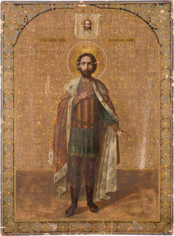 A MONUMENTAL ICON OF THE HOLY ALEXANDER NEVSKY - photo 1