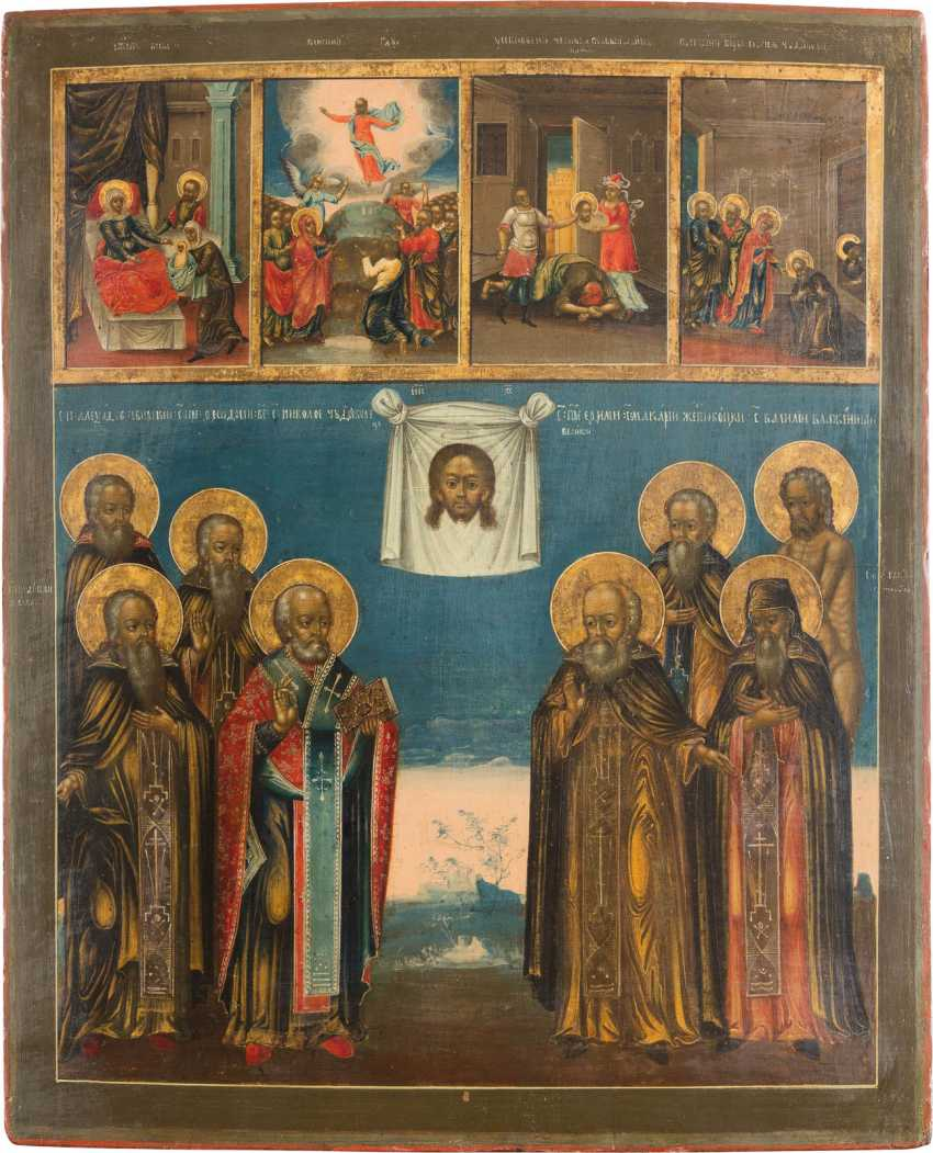 LARGE-SCALE MULTI-SQUARE ICON WITH FEAST DAYS AND SELECTED SAINTS - photo 1