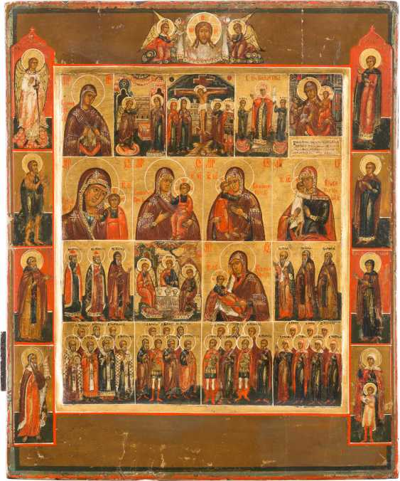 THE MORE FIELDS ICON WITH MOTHER OF GOD-REPRESENTATIONS, SELECTED SUBJECTS, AND OF THE HOLY - photo 1