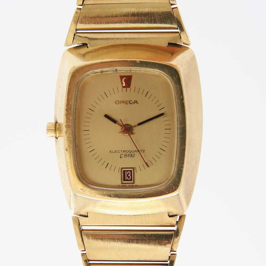 """OMEGA men's watch """"electro-quartz"""", CA. early 1970s, in yellow gold 18K. - photo 1"""