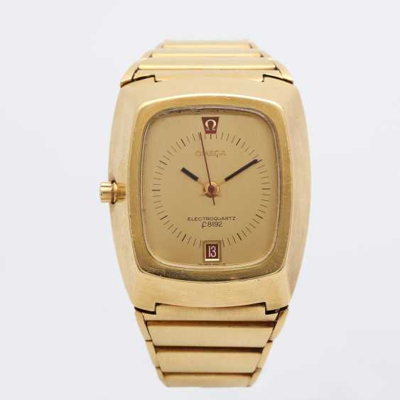 """OMEGA men's watch """"electro-quartz"""", CA. early 1970s, in yellow gold 18K. - photo 2"""