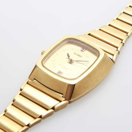 """OMEGA men's watch """"electro-quartz"""", CA. early 1970s, in yellow gold 18K. - photo 3"""