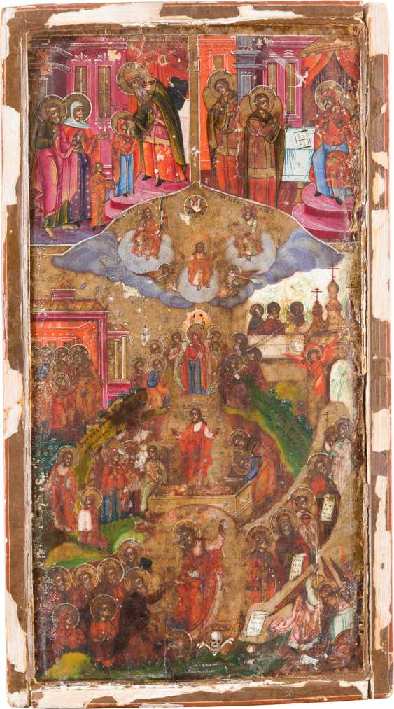 ICONS-FRAGMENT WITH THE RESURRECTION AND DESCENT OF CHRIST INTO HELL - photo 1