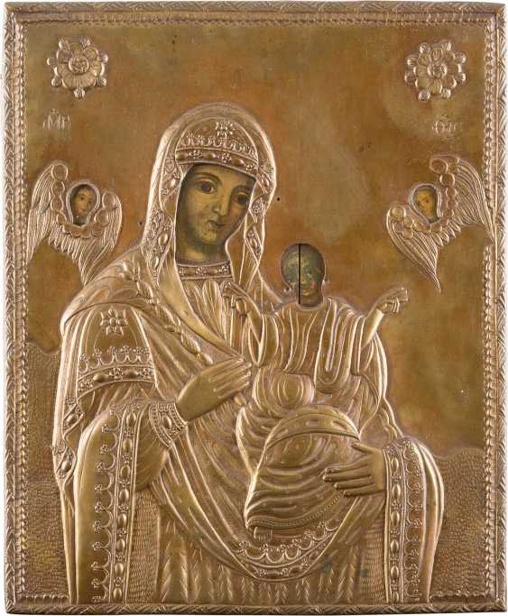THREE ICONS: TWO OF THE MOTHER OF GOD-REPRESENTATIONS, AND CHRIST PANTOCRATOR IN THE ICON CASE - photo 3