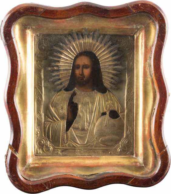 THREE ICONS: TWO OF THE MOTHER OF GOD-REPRESENTATIONS, AND CHRIST PANTOCRATOR IN THE ICON CASE - photo 4