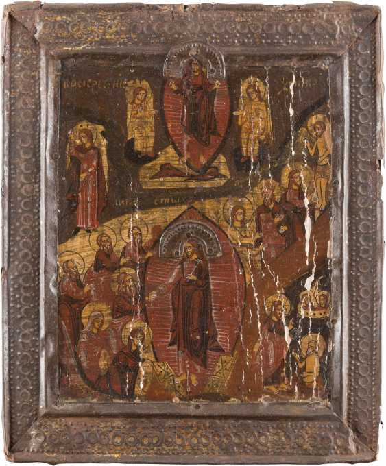 TWO ICONS: THE DESCENT INTO HELL AND RESURRECTION OF CHRIST AND OF THE MOTHER OF GOD 'GLYKOPHILOUSA' - photo 2