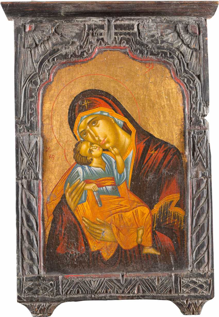 TWO ICONS: THE DESCENT INTO HELL AND RESURRECTION OF CHRIST AND OF THE MOTHER OF GOD 'GLYKOPHILOUSA' - photo 3