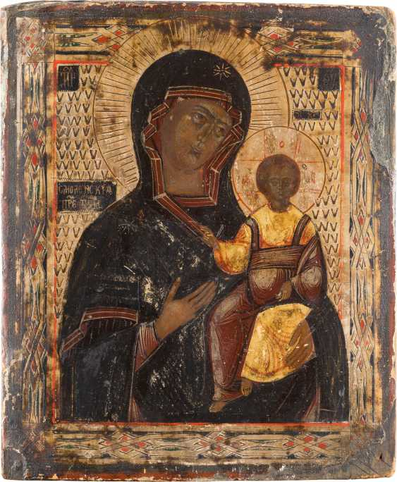 TWO ICONS: MOTHER OF GOD OF SMOLENSK MOTHER OF GOD 'JOY OF ALL WHO SORROW' - photo 2
