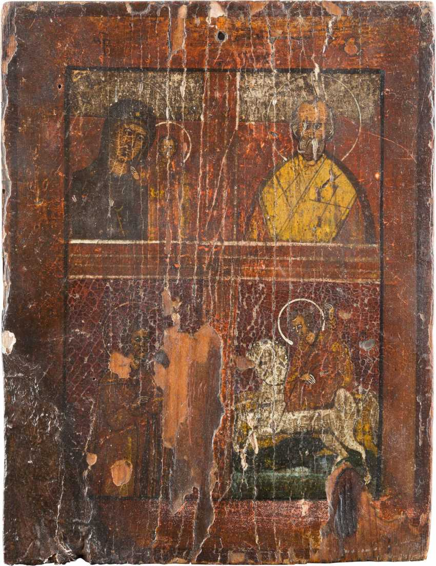 TWO SMALL ICONS: FOUR FIELDS-ICON OF CHRIST PANTOCRATOR - photo 3
