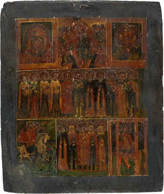 THREE ICONS: THE DORMITION OF THE MOTHER OF GOD, THE VEIL OF WONDER, AND THE MORE FIELDS ICON - photo 2