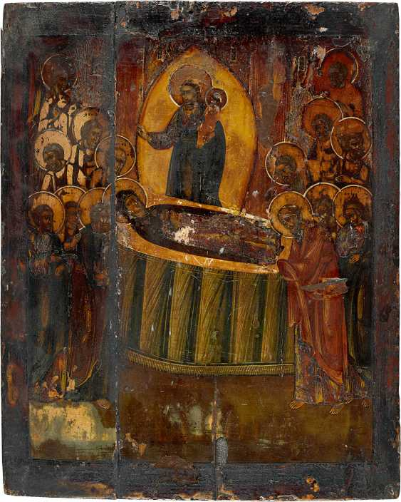 THREE ICONS: THE DORMITION OF THE MOTHER OF GOD, THE VEIL OF WONDER, AND THE MORE FIELDS ICON - photo 3