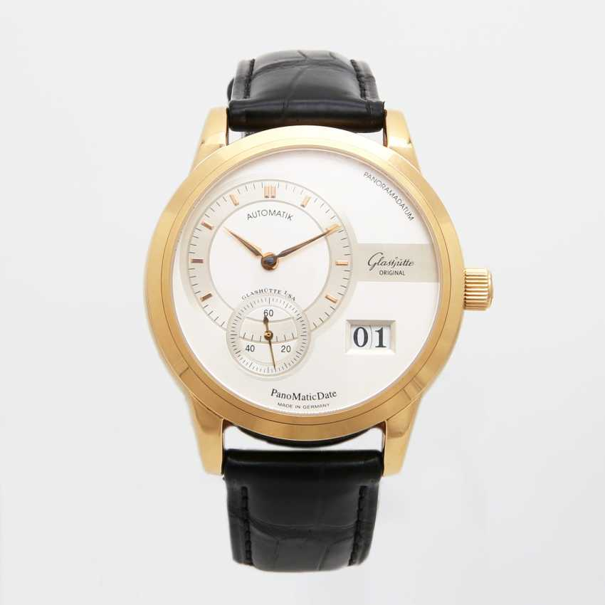 "GLASHÜTTE ORIGINAL men's watch ""panomatic date"" in yellow gold 18K. - photo 2"