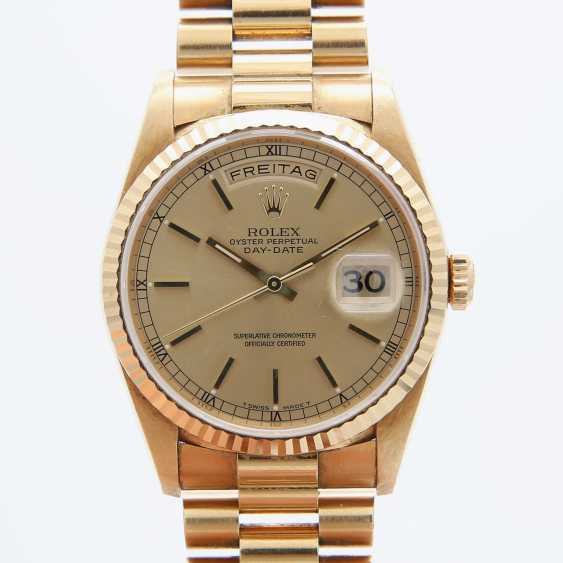 ROLEX mens watch Day Date, CA. 1995/96, in yellow gold 18K. - photo 1