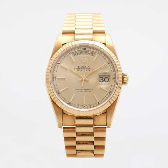 ROLEX mens watch Day Date, CA. 1995/96, in yellow gold 18K. - photo 2