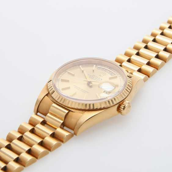ROLEX mens watch Day Date, CA. 1995/96, in yellow gold 18K. - photo 3
