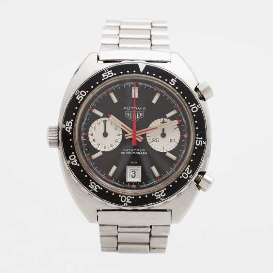 """HEUER men's watch """"Autavia"""", CA. late 1960's/early 1970's. Stainless steel. Ref. 1163V. - photo 2"""