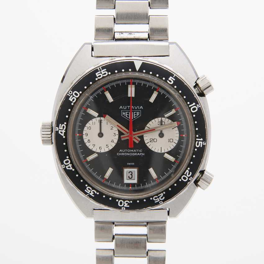 """HEUER men's watch """"Autavia"""", CA. late 1960's/early 1970's. Stainless steel. Ref. 1163V. - photo 1"""