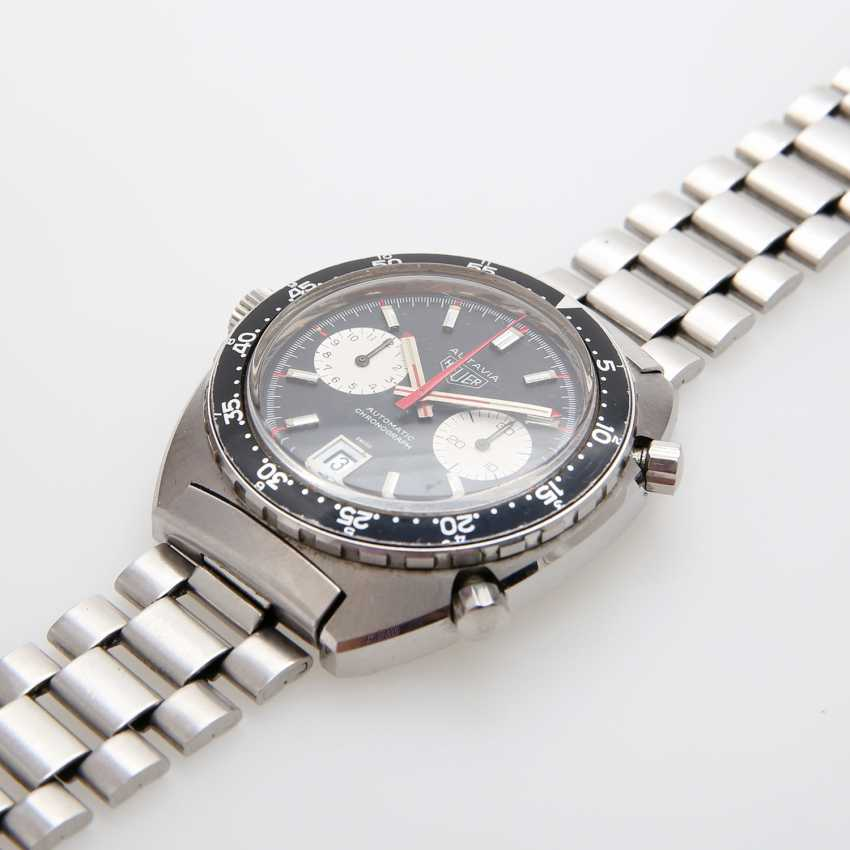"""HEUER men's watch """"Autavia"""", CA. late 1960's/early 1970's. Stainless steel. Ref. 1163V. - photo 3"""