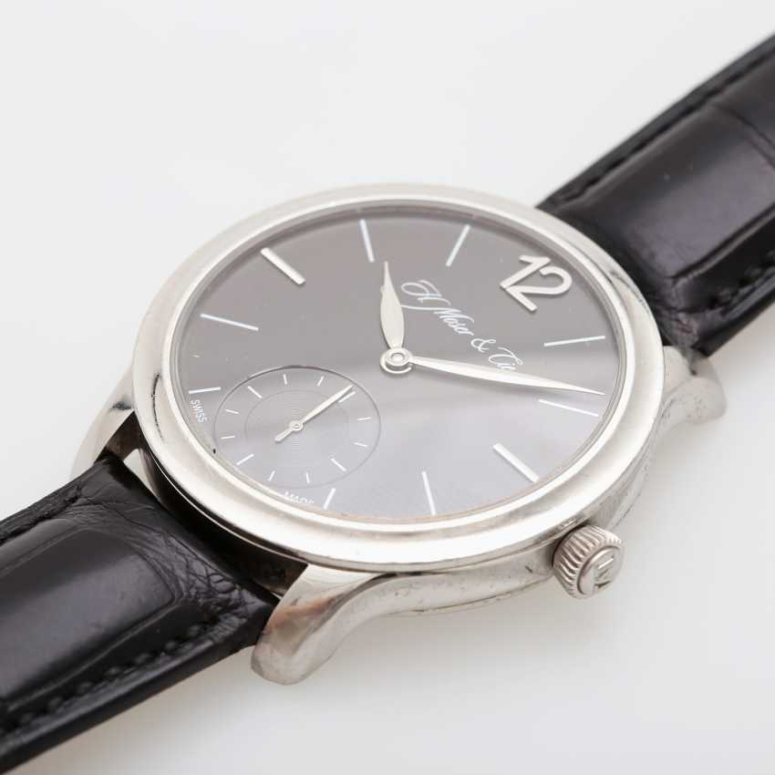 "H. MOSER & CIE wrist watch ""Mayu"". Case Platinum. - photo 3"