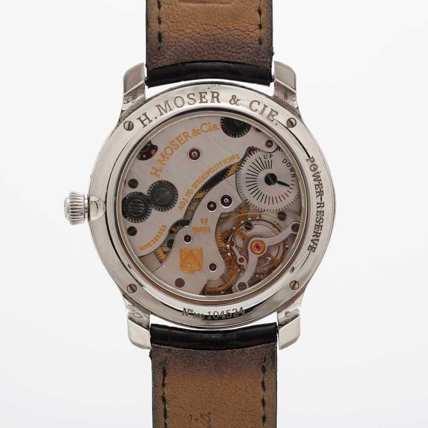 "H. MOSER & CIE wrist watch ""Mayu"". Case Platinum. - photo 5"