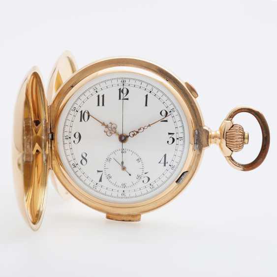 AUDEMARS BROTHERS Taschenuhr mit Viertelrepetition u. Chronograph, um 1900. - photo 1