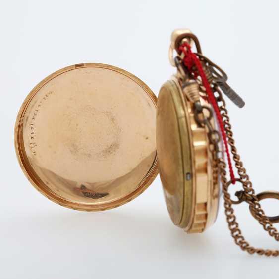 Taschenuhr mit Schlagwerk, ca. Anfang/Mitte 19. Jahrhundert, - photo 3