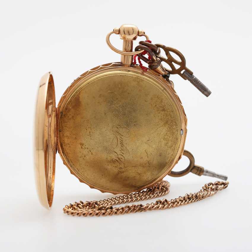 Taschenuhr mit Schlagwerk, ca. Anfang/Mitte 19. Jahrhundert, - photo 4