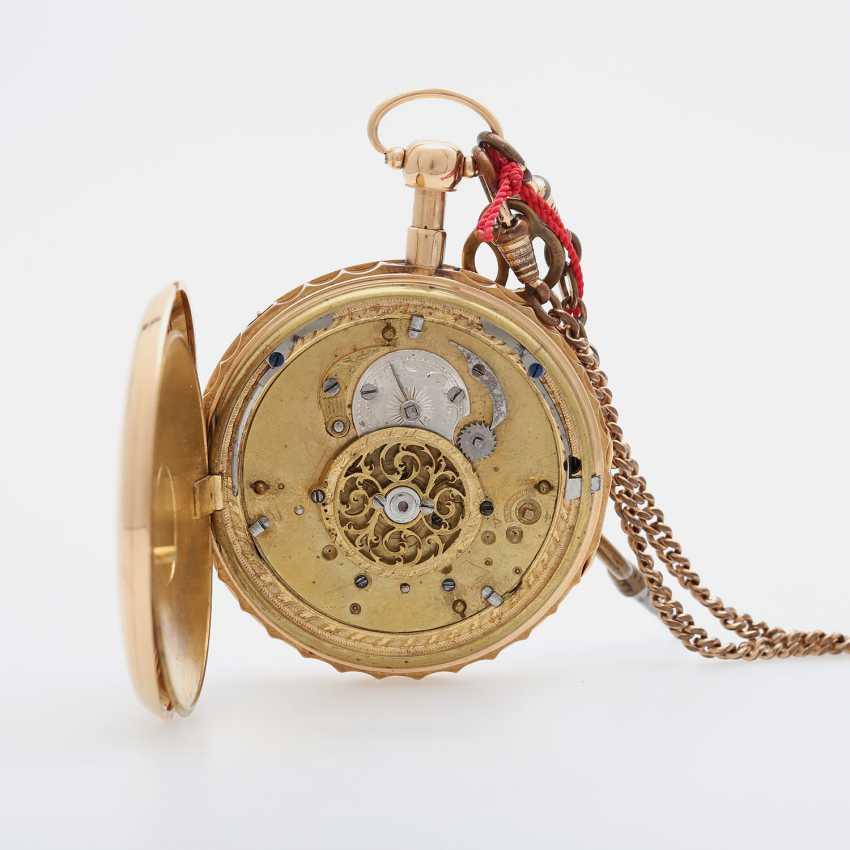 Taschenuhr mit Schlagwerk, ca. Anfang/Mitte 19. Jahrhundert, - photo 5