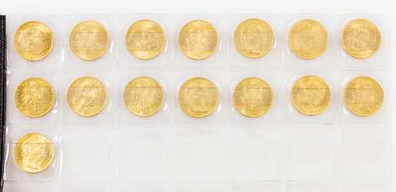 Large 15 piece gold Austria group - consisting of 15 x 8 Florin - photo 2