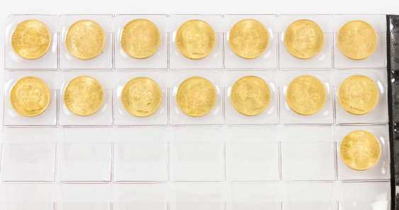 Large 15 piece gold Austria group - consisting of 15 x 8 Florin - photo 1
