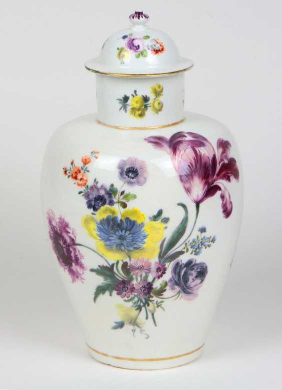 rare AR cover vase Meissen to 1735/40 - photo 1