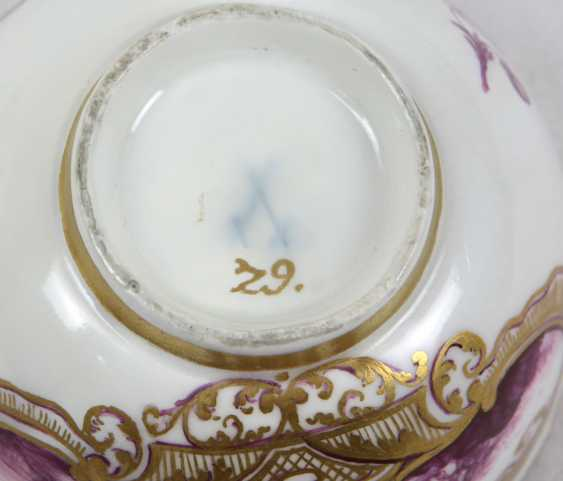 Meissen ceremonial plate Bataille painting to 1740/45 - photo 4