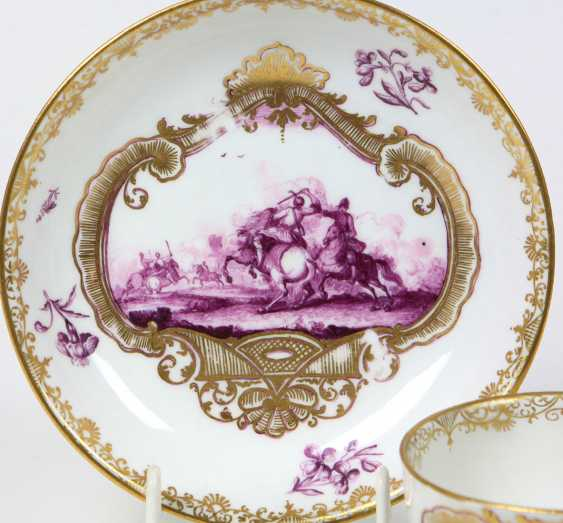 Meissen ceremonial plate Bataille painting to 1740/45 - photo 2