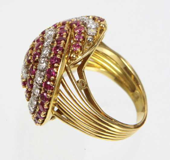 exclusiver Rubin Diamant Ring - Gelbgold/WG 750 - photo 2