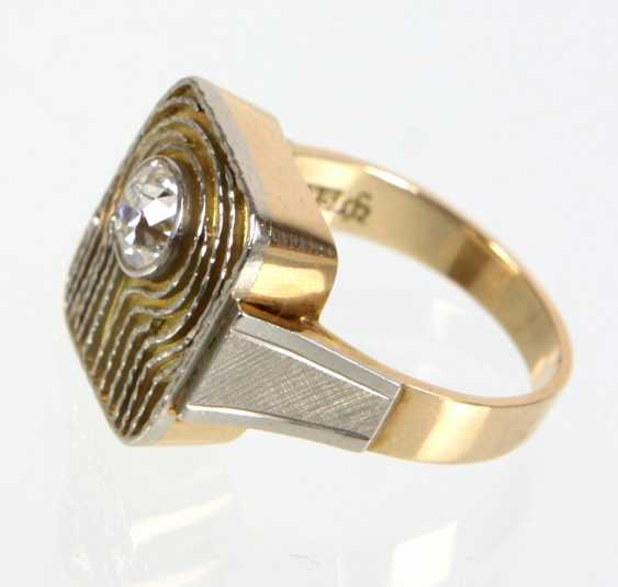 Brillant Ring 1 Carat - Gelbgold/WG 585 - photo 2
