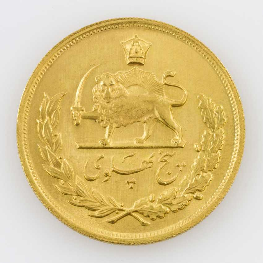 Iran/Gold - 5 Pahlevi 1960, Mohammed Riza Pahlevi - photo 2